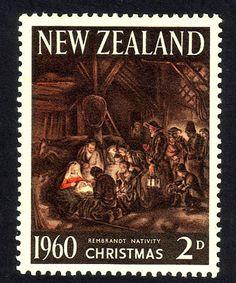 """""""Meri Kirihimete!"""" Leena, la Postationist once, siempre está tratando de encontrar maneras de decir Feliz Navidad en nuevos idiomas. Así es como se dice en maorí. A ella le gusta el olor delicioso de un almuerzo de barbacoa de Navidad, la forma somepeople disfrutar de sus fiestas de verano en Nueva Zelanda. (Sello: la primera Navidad de Nueva Zelanda sello 1960)"""