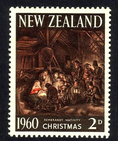 New Zealand's first Christmas stamp. Rembrandt