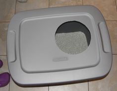 Do It Yourself Cheap Mess-Free Cat Litter Box - Musings From a Stay At Home Mom