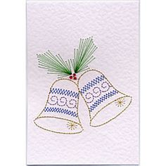 Bells and Holly | Christmas patterns at Stitching Cards.