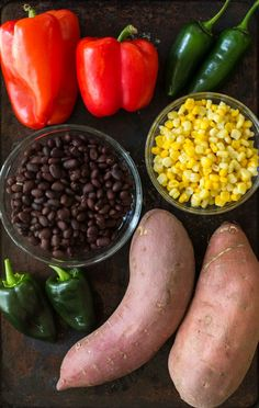 Pork Recipes, Mexican Food Recipes, Vegan Recipes, Cooking Recipes, Fun Recipes, Vegan Meals, Mexican Sweet Potatoes, Sweet Potato Dishes, Vegane Rezepte