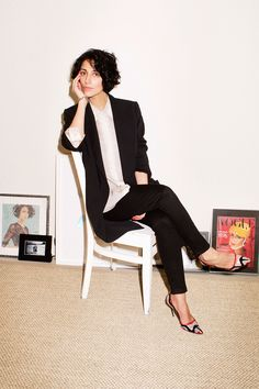 Yasmin Sewell... love her, jacket and shirt and shoes