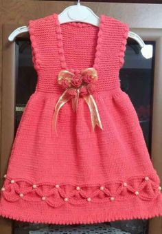 Crochet is the New Source of Income for Thousands of Women Baby Girl Frocks, Frocks For Girls, The Dress, Baby Dress, Crochet Faces, Little Baby Girl, Baby Knitting Patterns, Dress Collection, Toddler Girl