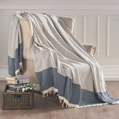 Turkish Cotton Throw Blanket Awesome decorative accents for a very Hygge home!   Reverie Studio