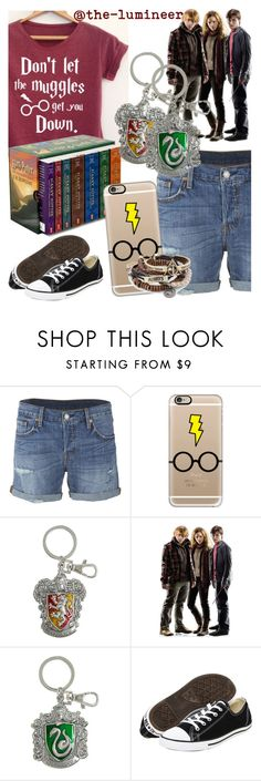 """""""Up for some Harry Potter RP?"""" by elliewriter ❤ liked on Polyvore featuring Levi's, Casetify and Converse"""