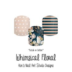 """Whimsical Floral:  If you want to get these beauties of your fingers and toes, head on over to my Jamberry Nail Art Studio Marketplace!  Simply click on the image above and it will direct you right to the listing!  To see more of my designs and some special sales, join my Facebook group """"Kim's Nail Art Studio Designs"""" at www.facebook.com/groups/925106354278688 Thanks for the interest in my designs!"""