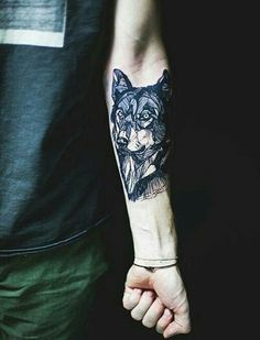 tattoo, wolf, and boy image (ge