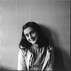 Anne Frank. Never forget the Holocaust.