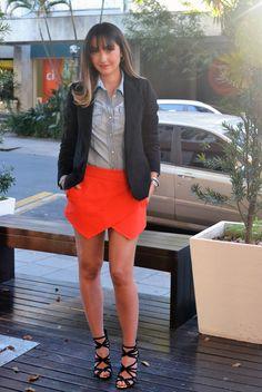 Short-Saia no Look da Semana. Skort Zara.