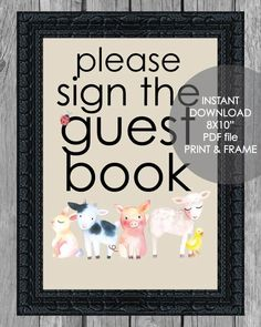 Printable Guest Book Sign - 8x10 Baby Shower Gift Bags, Baby Shower Registry, Baby Shower Party Supplies, Baby Shower Fall, Baby Shower Diapers, Baby Shower Parties, Baby Showers, Free Baby Shower Printables, Baby Shower Activities