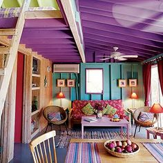 Purple living room..if I could get away with this I would