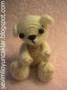 Crochet Miniature Bear! Tiny! Cute!