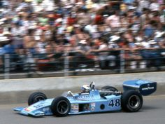 1975 Indianapolis 500 winner Bobby Unser in his Eagle Offenhauser 7400