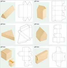 New Ideas Diy Paper Box Template Origami Recycled Crafts, Diy And Crafts, Simple Crafts, Foam Crafts, Diy Gifts, Handmade Gifts, Handmade Boxes, Food Gifts, Gift Box Design