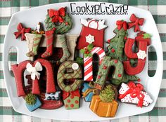 fun christmas cookies - letters