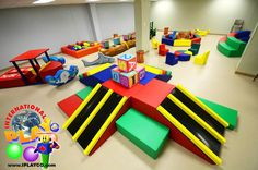 What a great soft indoor play area. Indoor Play For Toddlers, Indoor Play Areas, Kids Indoor Playground, Toddler Play, Fun Places For Kids, Church Nursery, Play Centre, Kids Church, Kids Playing