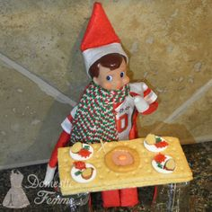The Elf on the Shelf®~ Elf dinner time