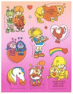 Vtg Rainbow Brite Stickers