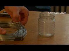 How to make hanging lanterns out of mason jars.