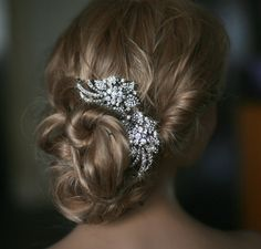 Bridal hair combs  2 pieces crystal hair comb  by Lolambridal, $118.00