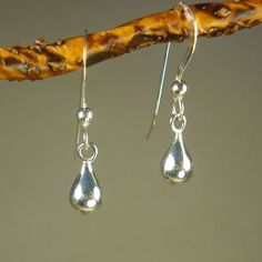 Jewelry by Dawn Small Round Teardrop Sterling Silver Earrings