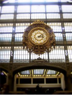 Paris photography Orsay photo Clock wall art by EyeCandyPictures, $25.00