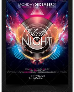 Dubstep Hardstyle Electro Flyer Template Vol  Party Flyer