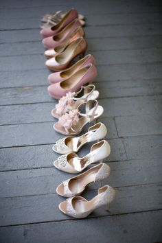 Wedding shoe photo ideas #weddingshoes we ♥ this! moncheribridals.com Blush Wedding shoes Photo By kristina lee photography