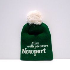 Newport Stocking Cap Vintage Alive With Pleasure Green and