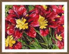 """""""Nikki's Flowers"""" - alcohol ink floral painting on Yupo"""