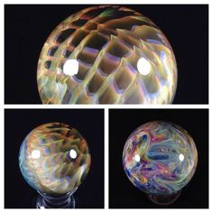 "~ Fumed Implosion 1.2""- Borosilicate Marble - Handmade db Glass - Boro - Art Glass"
