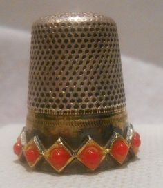 Antique Sterling Silver Gold Thimble by J A Henckels Germany Circa 1900s | eBay