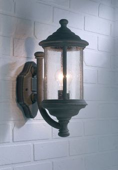 Traditional Old Iron Finish Outdoor Wall Light