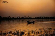 Sunset upon Shatt Al-Arab river in Basra, southern Iraq  شط العرب في البصرة الفيحاء وقت الغروب