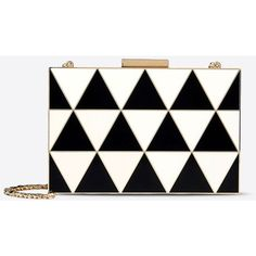 Valentino Minaudière ($3,045) ❤ liked on Polyvore featuring bags, handbags, clutches, black, geometric purse, valentino purses, accessories handbags and black clutches