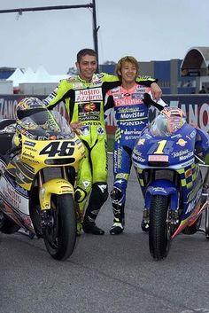 Valentino Rossi y Daijiro Kato - Valentino Rossi - Motocicletas Motogp Valentino Rossi, Valentino Rossi 46, Motorcycle Racers, Racing Motorcycles, Grand Prix, Road Racing, F1 Racing, Super Bikes, Street Bikes