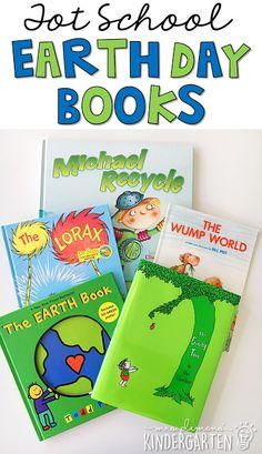 5 Great Earth Day themed books for tot school, preschool, or the kindergarten classroom.