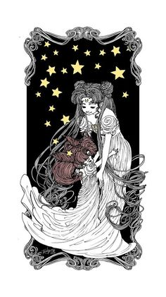 Mother Moon - A gallery-quality illustration art print by Trungles for sale.