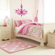 Quartos de Meninas rosa x branco x floral Tá Decorado!