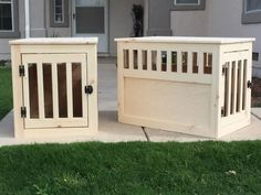 Pair of wood pet kennels   Do It Yourself Home Projects from Ana White