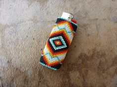 Native American Beaded Lighter Cover/Case por AmandasBeadingHeart