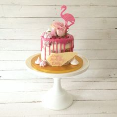 Pink flamingo drip cake by Blossom & Crumb