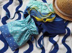 Tuto couture - Pochon à coulisses pour ranger son maillot de bain mouillé / Sewing tutorial - Swimwear bag