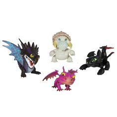 Only Toys R Us lets you recreate the final epic battle with all of your favorite How To Train Your Dragon 2 characters! Fly into battle with Toothless, Terrible Terror, Skrill and the deadly Bewilderbeast. Each dragon stands 3-inches tall and is incredibly detailed. Collect all of your favorite dragons with the entire line of Mini Dragons. Bring home the magic of the movies with the How To Train Your Dragon 2 Epic Battle Mini Dragon Set!