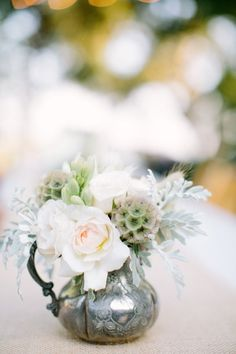 Antique Elegance | Rustic silver wedding inspiration