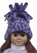 "Instructions for ""Fleece Hat for 18inch Doll"