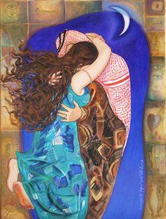 """Yearning and Meeting (2007) شوق و لقاء Iraqi artist Wassma Alagha وسماء الأغا"