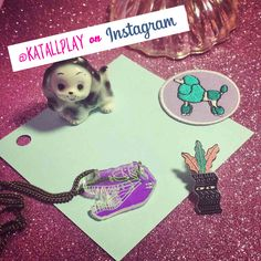 I'm now on Instagram! https://instagram.com/katallplay/ necklace by @limedroplabel patch by Cat Rabbit & pin by Spenceroni