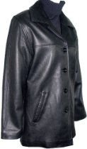 5004 Real Fur Lined STANDARD Grade Genuine Black Soft Supple Light Lambskin Leather Classic Traditional New Pea Coat Blazer Jacket, ZIP OUT SECTION REAL REX FUR VELOUR LINER, Button Front Closure Slant Pocket Nylon Lined Regular Fit Petite Regular Plus Size Silky feel Pocket Lining