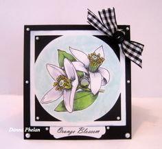Gina K Designs, Stately Flowers 8, by Melanie Muenchinger.  Orange Blossom stamp.